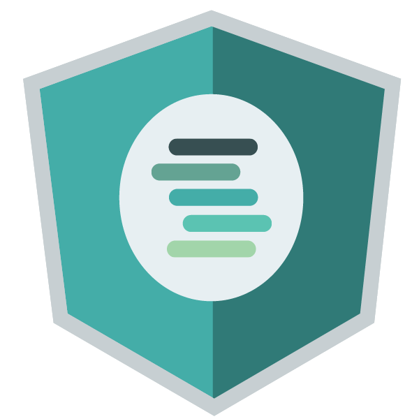 AngularJS shield shape in Scalyr colors