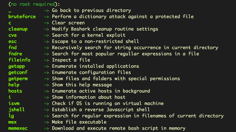 A screenshot image of advanced targeted attacks on shell commands