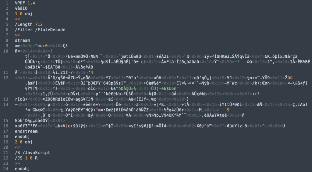 Image of obfuscated javascript