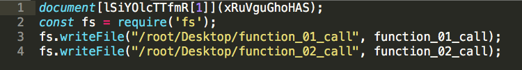 Image of renamed variables