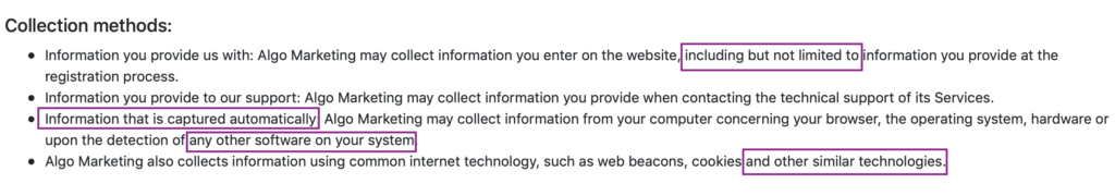 image of a privacy policy