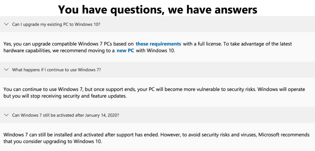 Image of Microsoft Windows 7 End Of Life FAQ