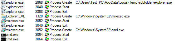 image of injecting explorer exe