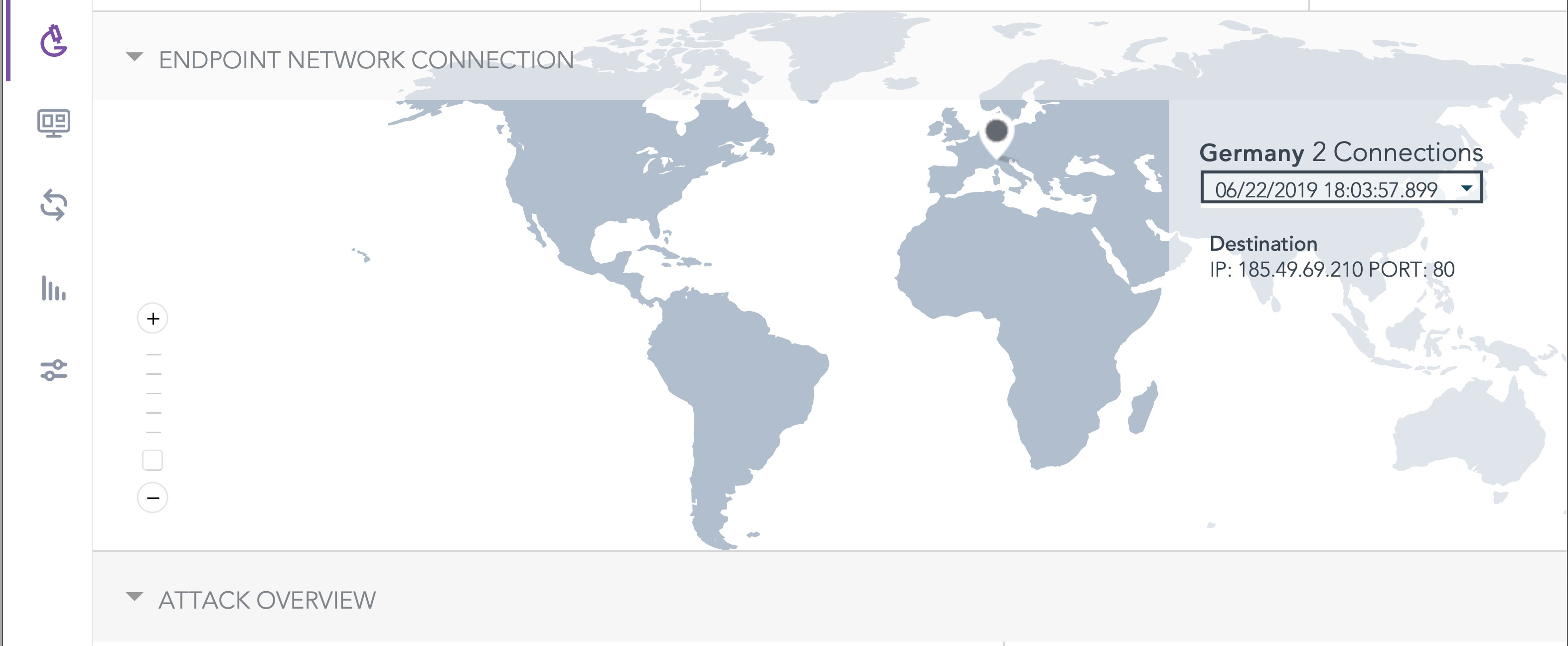 image of sentinel one showing ip address location