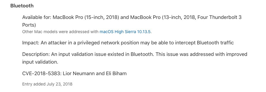 image of apple security update