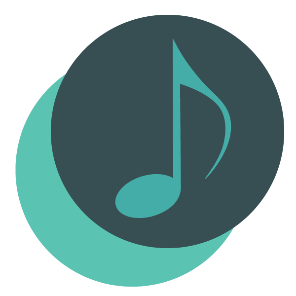 Music note in a circle signifying symfony logging