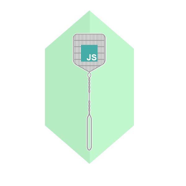 JavaScript fly swatter signifying javascript stack trace