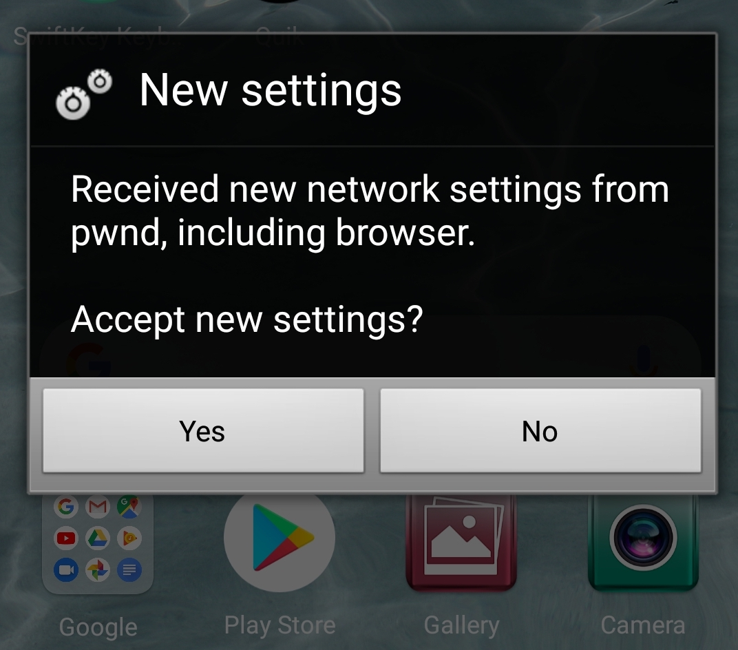 image of accept new settings