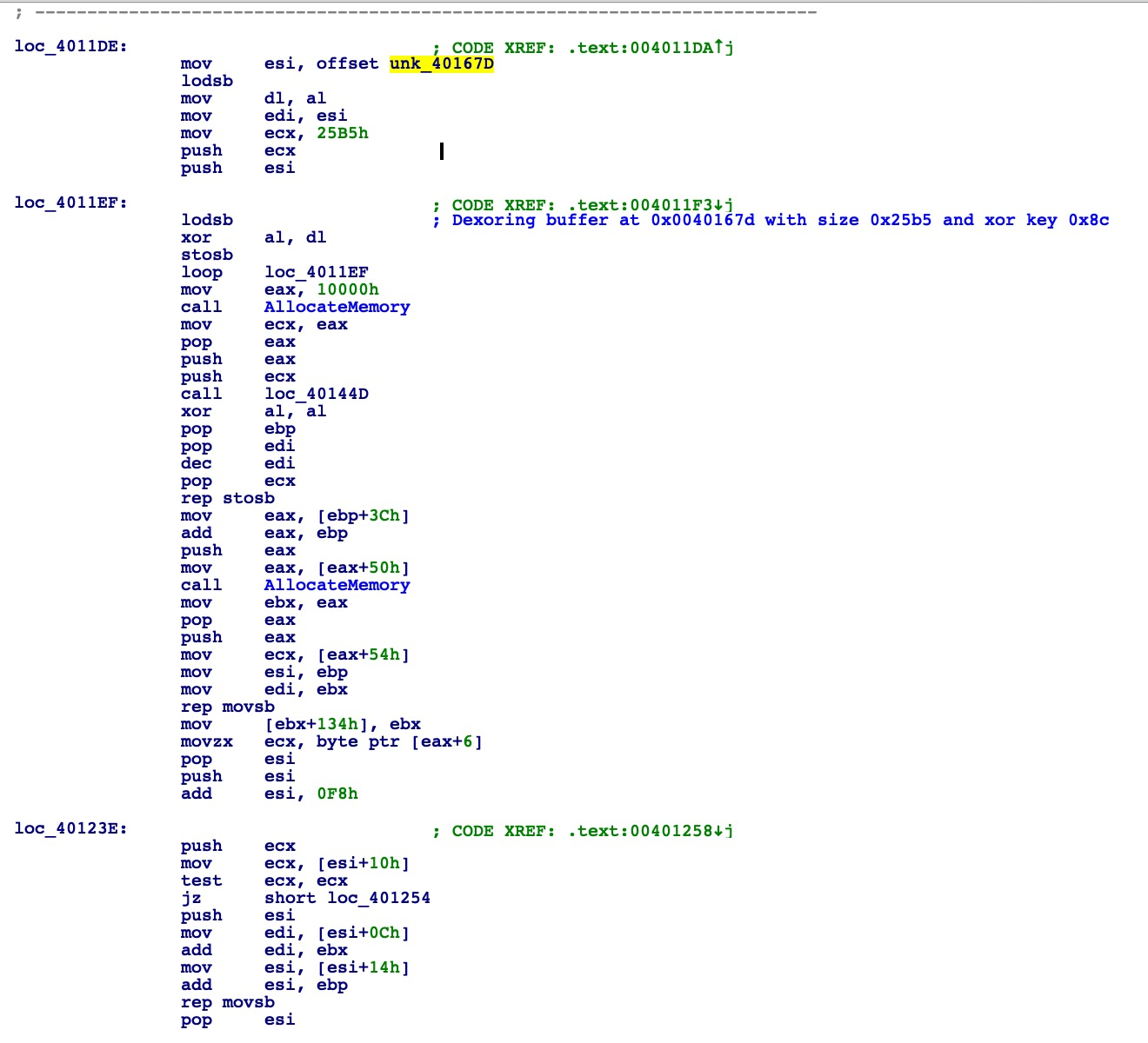image of obfuscated payload