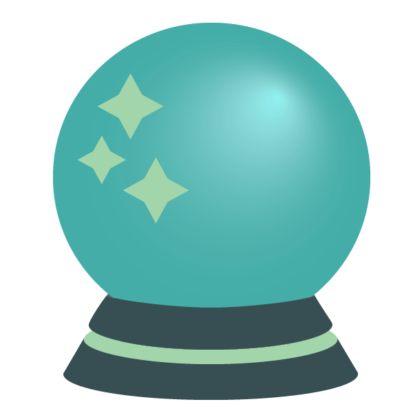 predictive modeling signified by crystal ball with scalyr colors