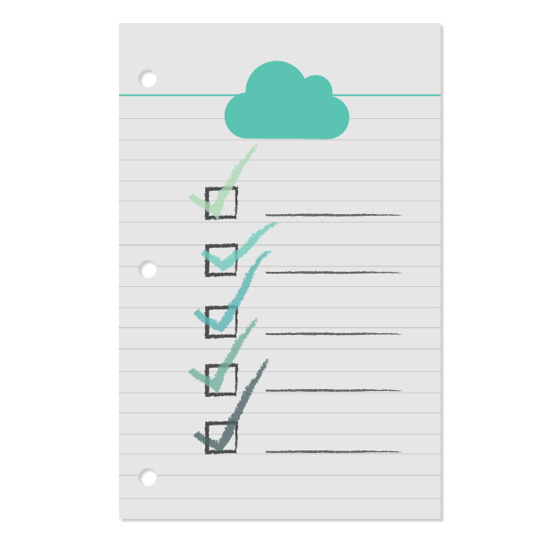 Paper with checklist and cloud signifying aws logging best practices