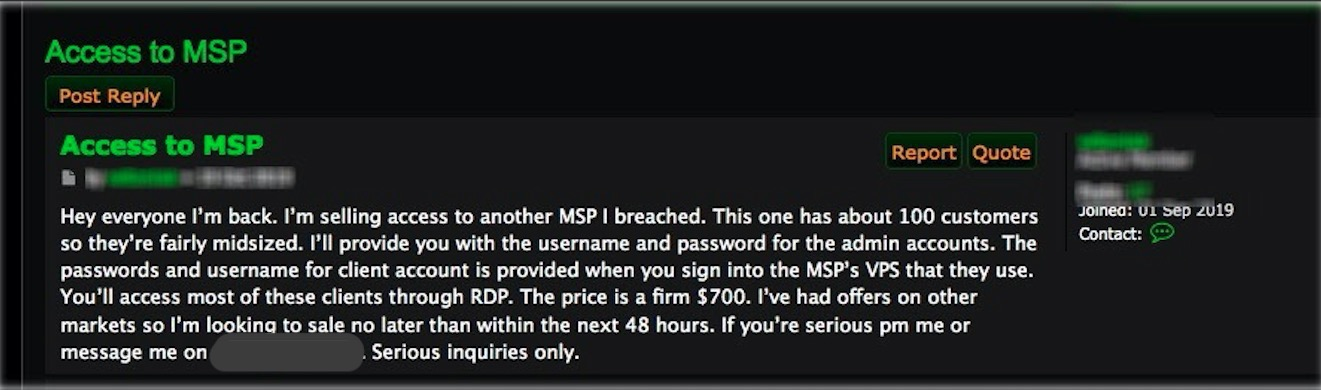 image of access to MSP