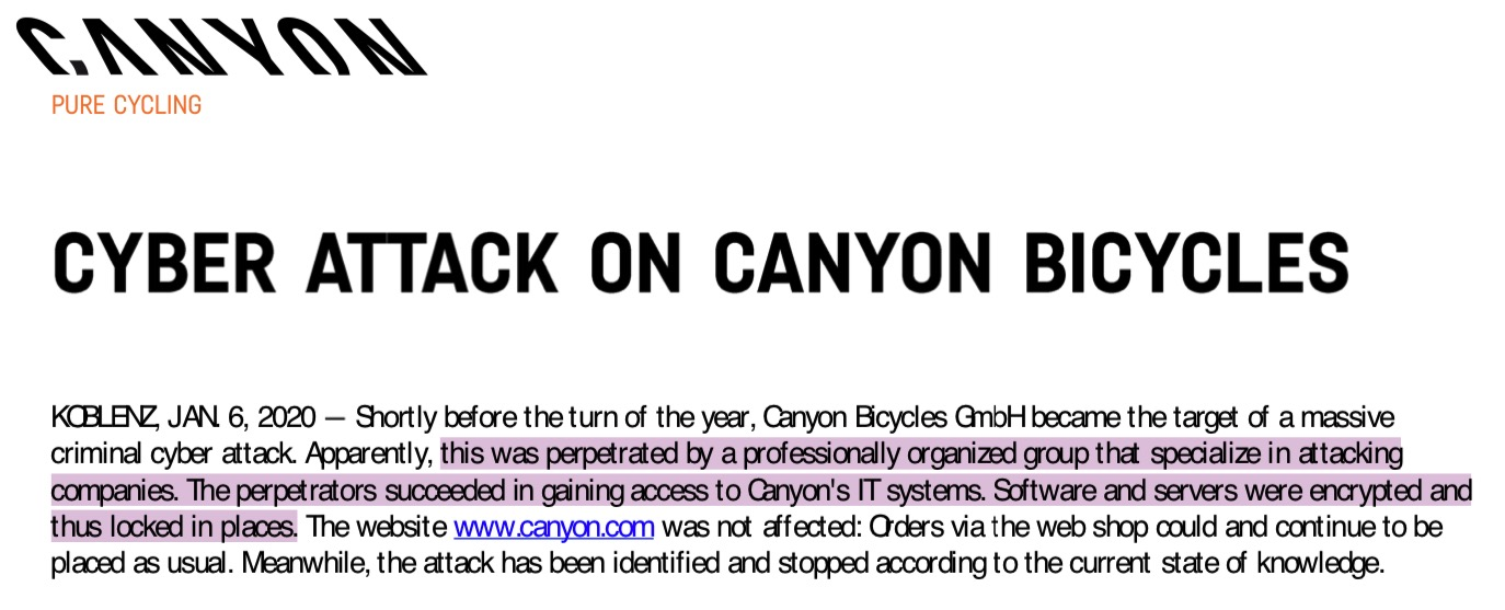 image of canyon bicycles
