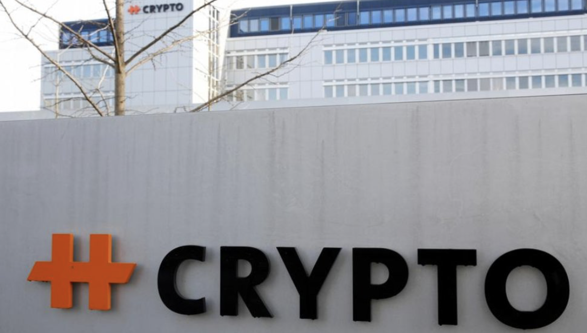 image of crypto AG building and logo