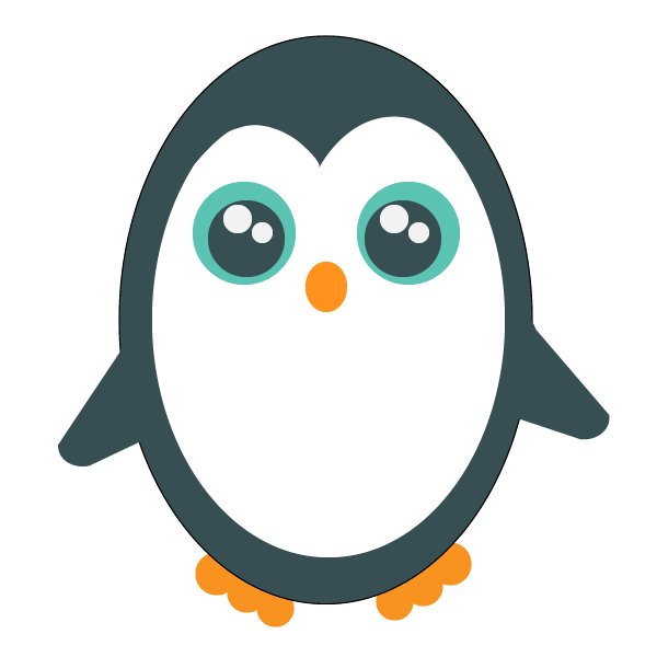 Penguin signifying Linux cpu load