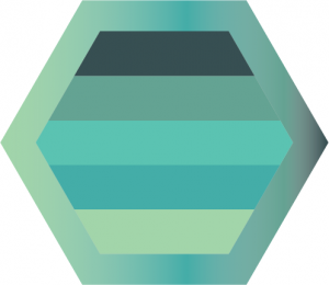 OpenTracing hexagon with Scalyr colors