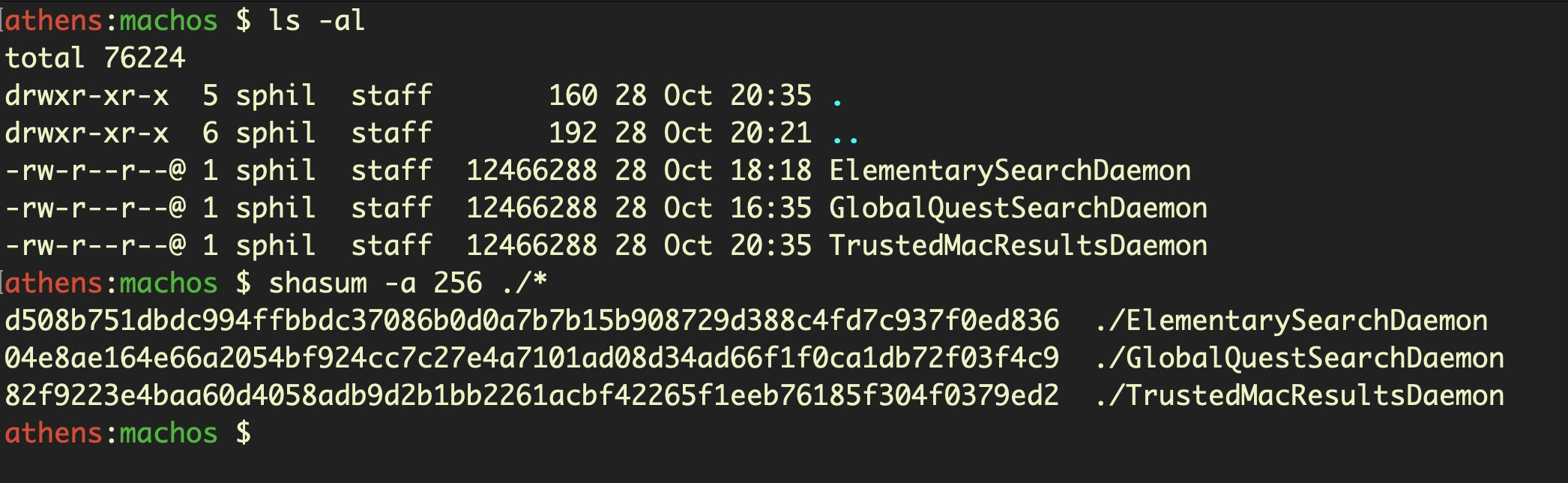 image of AdLoad Hashes